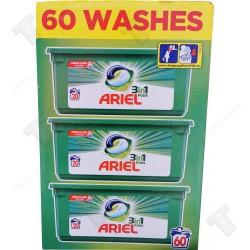 Капсули за пране, Ariel HD pods 60 броя, бяло пране