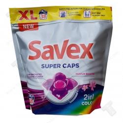 Савекс капсули за пране 2в1 super caps, 38 броя