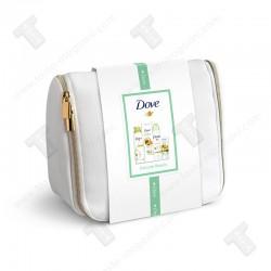 Dove дамски подаръчен комплект несесер, Душ пяна, лосион за тяло, дезодорант и крем за ръце, delicate Beauty