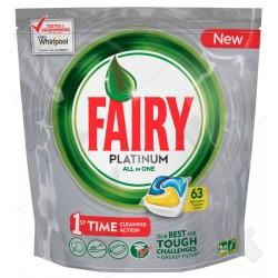 Fairy platinum 63броя, таблетки за съдомиялна машина