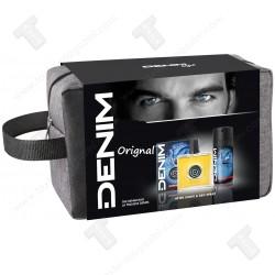 Denim подаръчен комплект несесер за мъже, афтършейв 100мл,дезодорант 150мл - Original