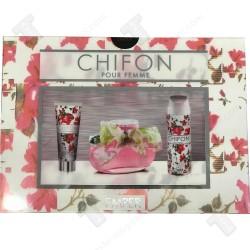 Chifon подаръчен комплект за жени, боди лосион, EDT 100мл , дезодорант 150мл