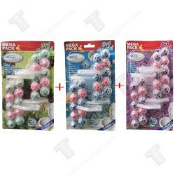 Промо пакет 12 броя ароматизатори топчета за тоалетна чиния,Бор,Океан,Лавандула,Wece fresh